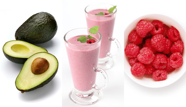Avocado-raspberry-milkshake