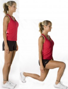 weight losing lunges